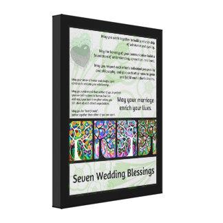 Jüdischer sieben Wedding Segen-Baum des Lebens Ham Galerie Faltleinwand