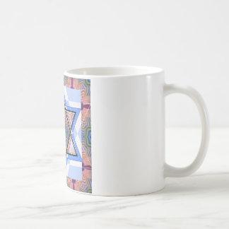 Jüdischer Stern auf Wässerung Kaffeetasse