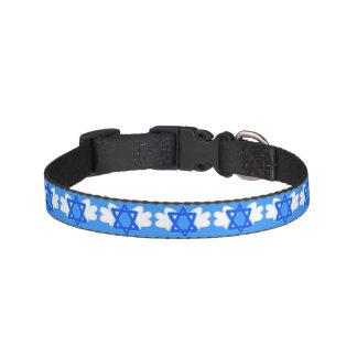 Jüdischer Stern mit Mitzvah Flügeln, Hundehalsband Haustierhalsband