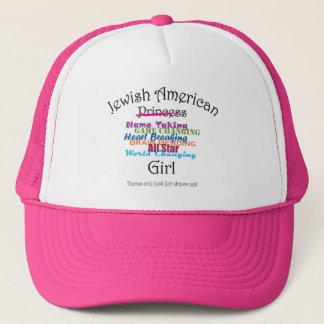 Jüdisches amerikanisches Mädchen Truckerkappe