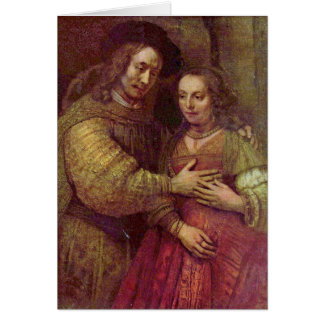 Jüdisches Braut-Sonderkommando durch Rembrandt Van Grußkarte