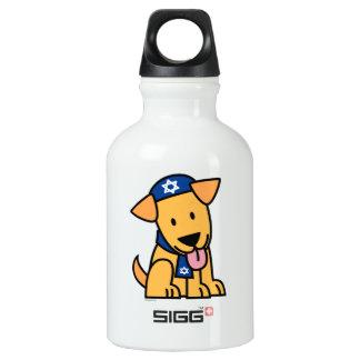 Jüdisches Labrador retriever Hündchen Chanukkas Aluminiumwasserflasche