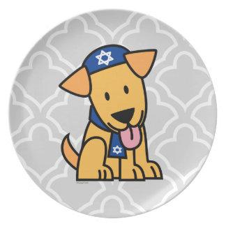 Jüdisches Labrador retriever Hündchen Chanukkas Teller