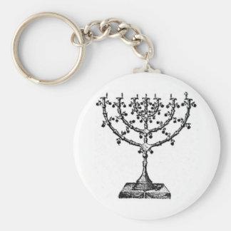 Jüdisches menorah schlüsselanhänger