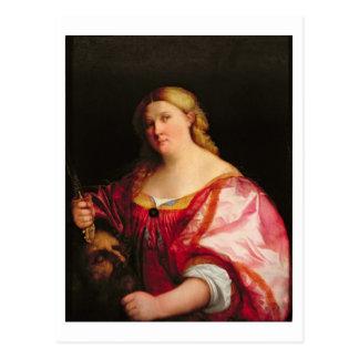 Judith, c.1525-28 (Öl auf Leinwand) Postkarte