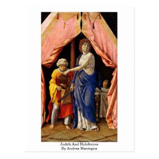 Judith und Holofernes durch Andrea Mantegna Postkarte