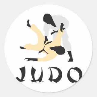 judo runder aufkleber