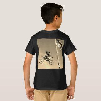 Jugend-amerikanischer Schmutz-Fahrrad-Reiter T-Shirt
