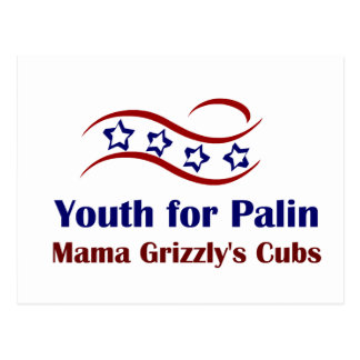 Jugend für Palin Produkte Postkarte