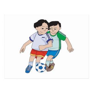 Jugend-Fußball Postkarte