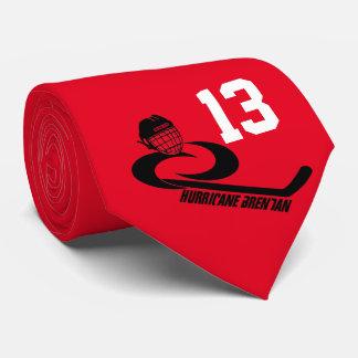 Jugend-Hockey-Krawatte Hurrikan BRENDANS Bedruckte Krawatten