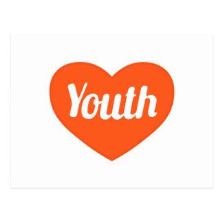Jugend-Konzept-grafisches Symbol-Muster Postkarte