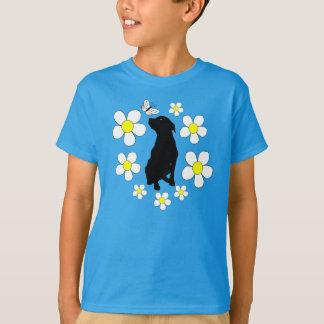 Jugend Pitbull Liebe und Gänseblümchen-Shirt T-Shirt