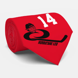 Jugend-Team-Hockey-Krawatte Hurrikan LÖWEN Personalisierte Krawatten