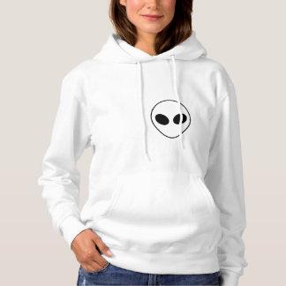 Jugendlich alien-Schwarzweiss-Sweatshirt Hoodie