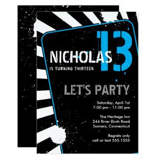 Jugendlich Blau der Jungen-Party Einladungs-| 12,7 X 17,8 Cm Einladungskarte
