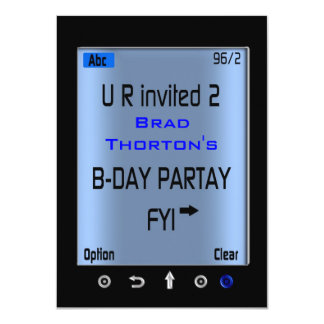 Jugendlich intelligentes Telefon simsen 11,4 X 15,9 Cm Einladungskarte