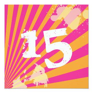 Jugendlich Mädchen der Geburtstags-Party Quadratische 13,3 Cm Einladungskarte