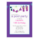 Jugendlich Pool-Party Einladung drehen