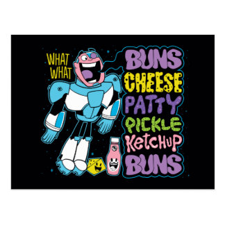 Jugendlich Titanen gehen!   Cyborg-Burger-Rap Postkarte