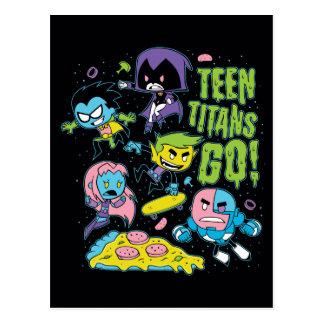 Jugendlich Titanen gehen! | Gnarly Neunzigerjahre Postkarte