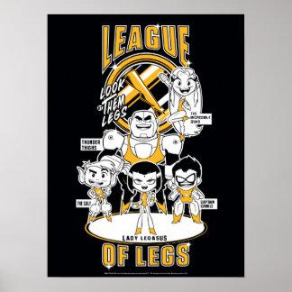 Jugendlich Titanen gehen!   Liga der Beine Poster