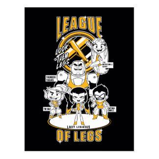 Jugendlich Titanen gehen! | Liga der Beine Postkarte