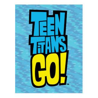 Jugendlich Titanen gehen!   Logo Postkarte