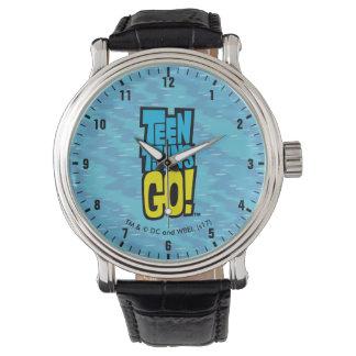 Jugendlich Titanen gehen! | Logo Uhr