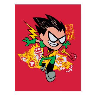 Jugendlich Titanen gehen!   Robins Arsenal-Grafik Postkarte