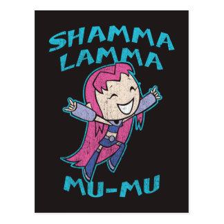 """Jugendlich Titanen gehen!   Starfire """"Shamma Lamma Postkarte"""