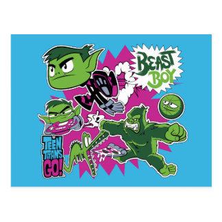 Jugendlich Titanen gehen!   Tier-Junge Shapeshifts Postkarte