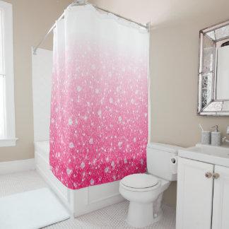 Jugendlich Tween-Mädchen-funkelnd rosa Glitter Duschvorhang