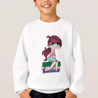 Jugendliche mit Glas-Studenten-Schulbüchern Sweatshirt