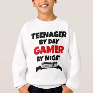 Jugendlicher durch TagesGamer bis zum Nacht Sweatshirt