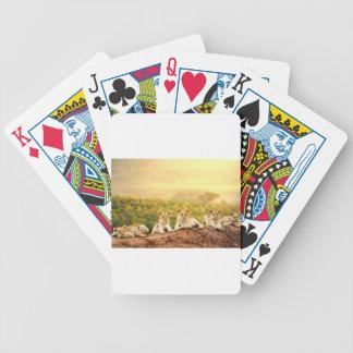 Jugendlöwe-Uhr von einem Hügel Bicycle Spielkarten