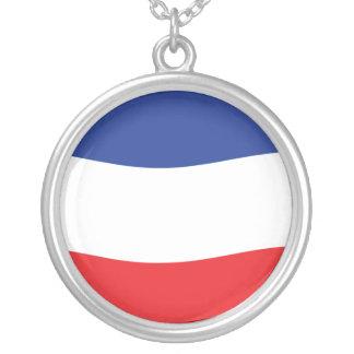 Jugoslawien-Flagge Versilberte Kette