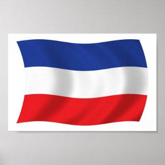 Jugoslawien-Flaggen-Plakat-Druck Poster