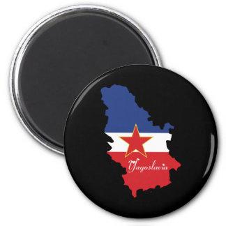 Jugoslawien-Magnet Runder Magnet 5,1 Cm