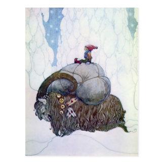 """Julebukking"" Vintage skandinavische Postkarte"