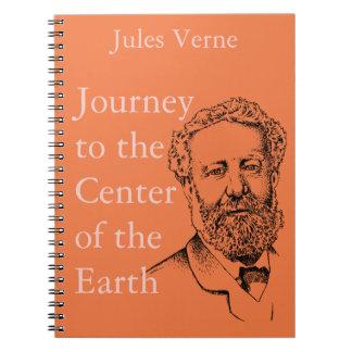 Jules Verne der steampunk Verfasser Spiral Notizblock