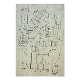 Jules Verne-Typografie Poster