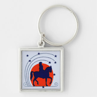 Juli der 4. Pferdpatriotische Unabhängigkeitstag Schlüsselanhänger