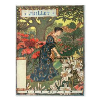 Juli Postkarte
