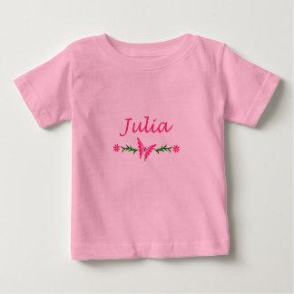 Julia (rosa Schmetterling) Baby T-shirt