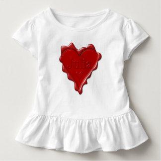 Julia. Rotes Herzwachs-Siegel mit Namensjulia Kleinkind T-shirt