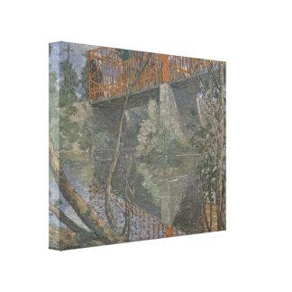 Julianisches Alden-Wehr die rote Brücke Galerie Gefaltete Leinwand
