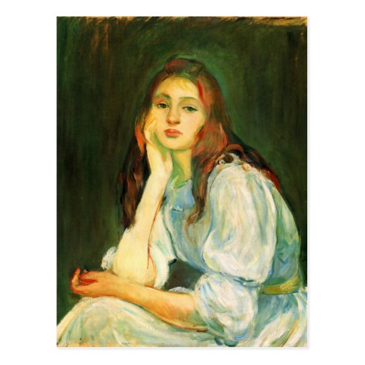 Julie, die durch Berthe Morisot träumt Postkarten