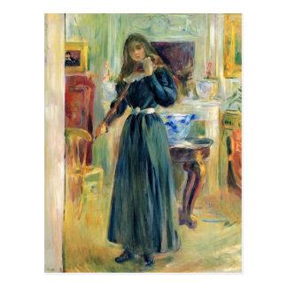 Julie, die Violine durch Berthe Morisot spielt Postkarte