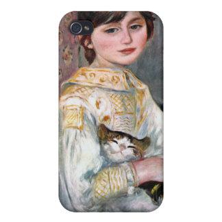 Julie Manet (Kind mit Katze) Renoir Schutzhülle Fürs iPhone 4